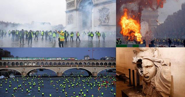 Pics of the french riots.