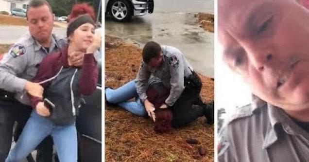 Harnett county police sheriff tackling girls.