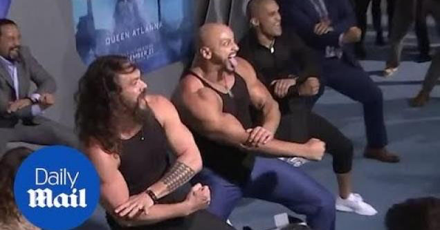 Jason Momoa doing the haka!
