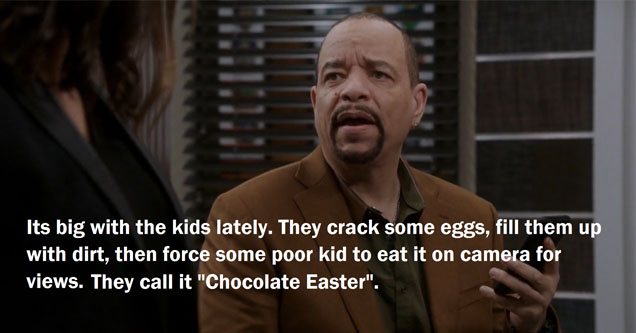 Ice-T talking bout some crazy eggs.