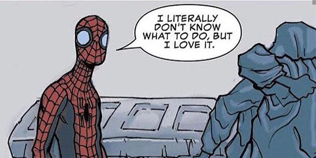 Spider-Man in his element.