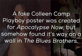 a fake colleen camp playboy poster.