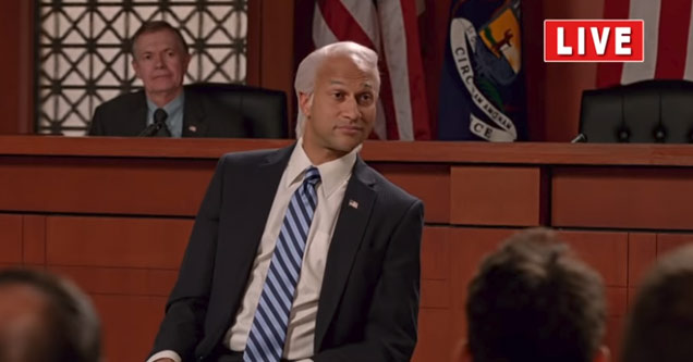 keegan michael key from key and peel as a senator or congressman during a live town hall