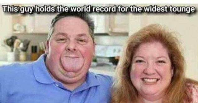 A man with the largest tongue in the world.