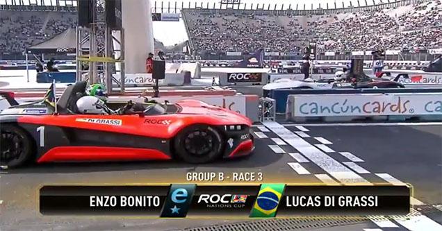 Enzo Bonito in his racecar.