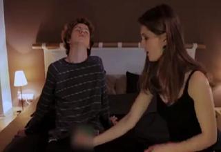 Funny girlfriend handjob video