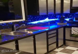 Kitchen Backsplash Video this led kitchen back-splash is nothing short of epic - ftw video