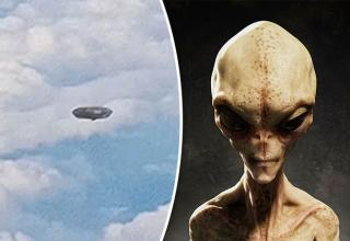 passengers discover UFO under the plane
