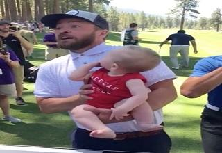 Justin Timberlake Responds To a Father Asking Him To Hold His Baby