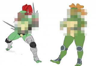 female ninja turtles blurred out
