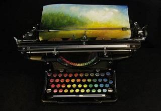 painting typewriter