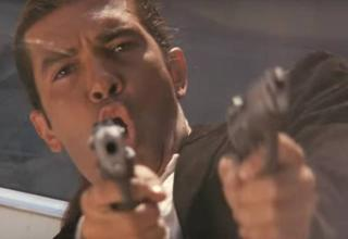 steven segal shooting two pistols in action sequence