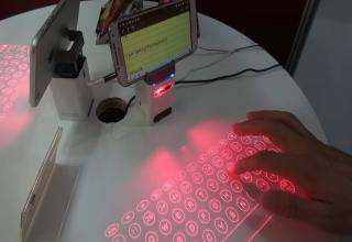 a laser projected virtual keyboard