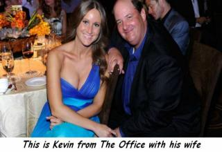 kevin from the office with his busty wife