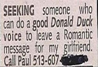 funny personal ad