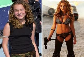 Alexa Vega as a child and as a sexy adult.