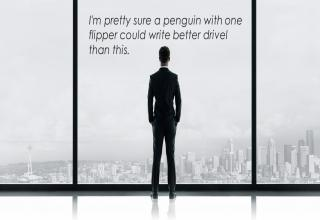 a pengiun could write a better novel than 50 shades o