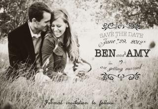 wedding invitation has somethin