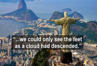 tourist's review of christ the redeemer statue in brazil