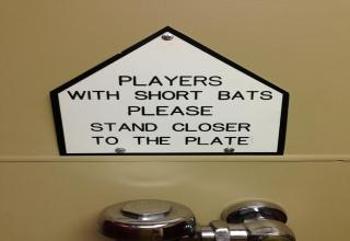 players with short bats stand closer to plate
