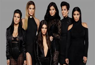 a picture of the Kardashian women in all black