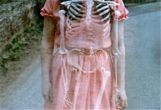 Trippy Pictures - Cover pic of skeleton in a dress.