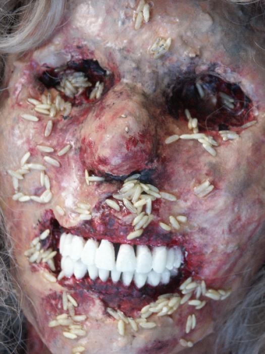 rotten human body