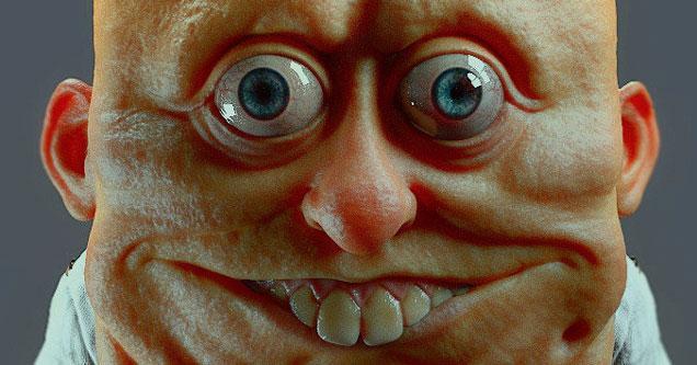 real life spongeBob and Patrick Horror sculptures