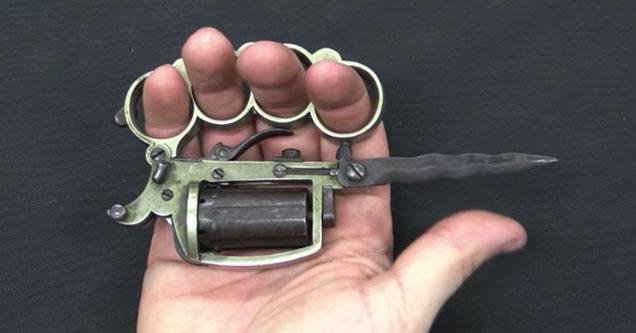Apache Duster a weapon that has a gun a knife and brass knuckles all in one
