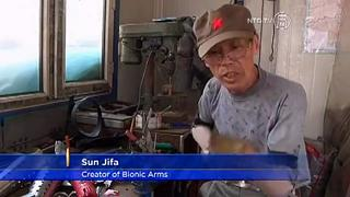 Chinese Farmer Builds His Own Bionic Arms view on ebaumsworld.com tube online.