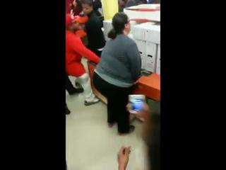 Greedy lady calls for security over TV on Black Friday view on ebaumsworld.com tube online.