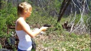 Girl Shoots Gun For Very First Time view on ebaumsworld.com tube online.