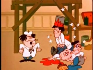 Three Stooges Cartoon: Dizzy Doodlers view on ebaumsworld.com tube online.