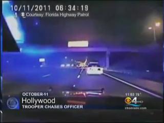 Florida Highway Patrol Arrests Miami Police Officer view on ebaumsworld.com tube online.