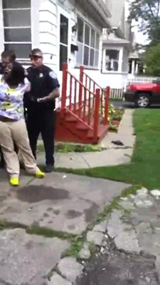 POLICE BRUTALITY Cop Punches Underaged Pregnant Girl view on ebaumsworld.com tube online.