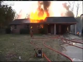 Snake Blamed For House Fire view on ebaumsworld.com tube online.