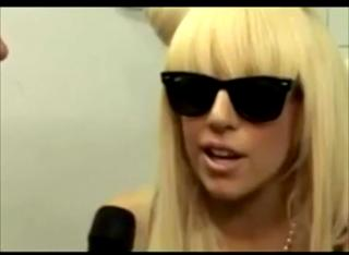 Gaga gives thanks to the Devil while throwing 1 Eye symbol view on ebaumsworld.com tube online.