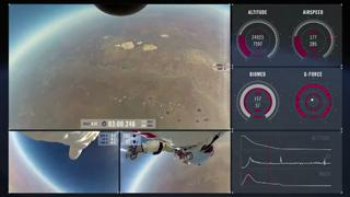 Multiple Angle POV and Mission Data Video From Stratos Skydive view on ebaumsworld.com tube online.