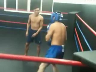 Amatuer brawler challenges mauy thai instructor to fight view on ebaumsworld.com tube online.