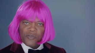 Samuel Lee Jackson spoofs Nicki Minaj 'Beez in the Trap' view on ebaumsworld.com tube online.