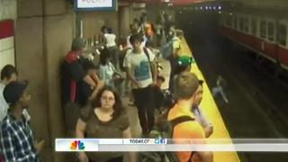 Mother and Toddler Son Fall Onto Train Tracks view on ebaumsworld.com tube online.