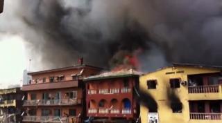 Nigerian Fireworks Warehouse Explodes