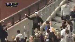 Awesome One Handed Foul Ball Catch By Hand view on ebaumsworld.com tube online.