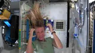 Watch Astronaut Karen Nyberg Wash Her Hair In Space view on ebaumsworld.com tube online.