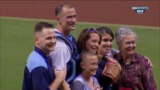 Military Father Surprises Daughter, Reunited at Rays game view on ebaumsworld.com tube online.