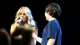 Carrie Underwood KISSES 12yo BOY On Stage!! view on ebaumsworld.com tube online.