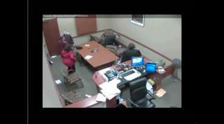 Man Attacks Ex-girlfriend In Courtroom view on ebaumsworld.com tube online.
