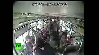 Old Man Attacks Bus Driver,Causes Huge Pileup In China view on ebaumsworld.com tube online.