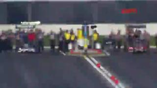 Anton Brown top fuel crash at Winternationals at Pomona, CA. view on ebaumsworld.com tube online.