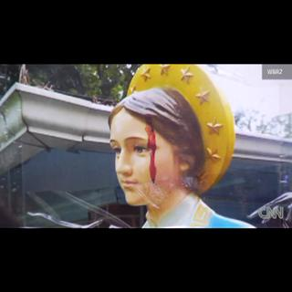 Faithful  flock  to  'Bleeding'  Virgin  Mary! Miracle! view on ebaumsworld.com tube online.
